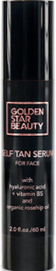Self Tanner For Face - Anti Aging Sunless Tanning Serum w/ Hyaluronic Acid Organic Oils & Vitamin B5 - Non Comedogenic Fake Tan Facial Bronzer Glow by Golden Star Beauty
